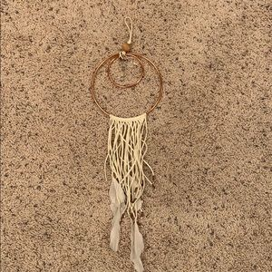 Urban Outfitters Small Rose Gold Dreamcatcher